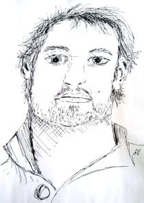 Een schets van mij