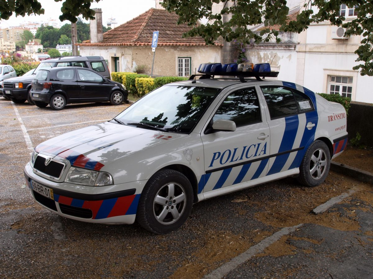 Police car in Lissabon